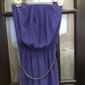Other - Purple strapless jumpsuit